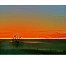 Western Prairie Road,Home Photographic Print