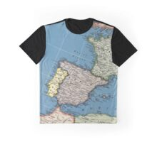 1939 Spain map - wedding gift - birthday gift for her Graphic T-Shirt