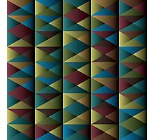Triangle Shade Pattern Photographic Print
