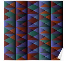Triangle Shade Pattern Var. 1 Poster