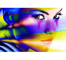 Colorful face Photographic Print