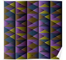 Triangle Shade Pattern Var. 2 Poster