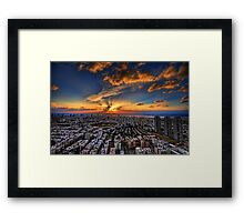 Tel Aviv, sunset time Framed Print