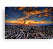 Tel Aviv, sunset time Canvas Print