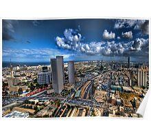 Tel Aviv, sunrise over the city Poster