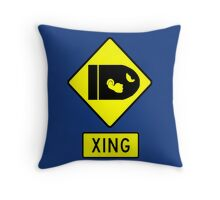 CAUTION - BULLET BILLS Throw Pillow