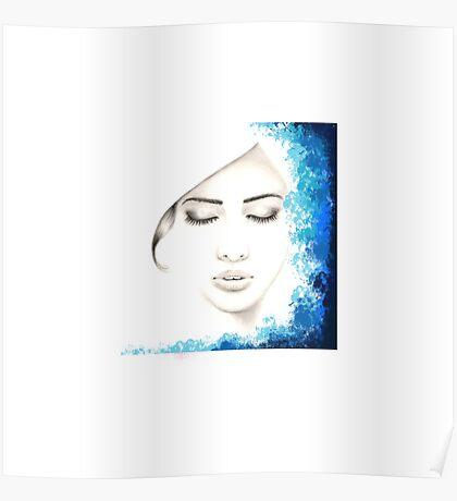 Minimalist girl Poster