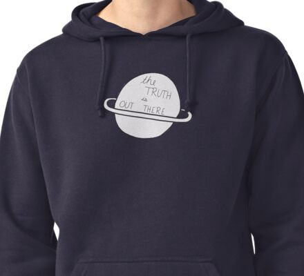 The Truth Is Out There Planet Doodle Pullover Hoodie
