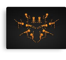 Halloween Yoga Canvas Print