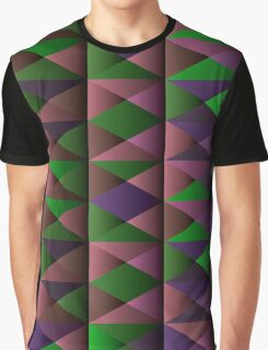 Triangle Shade Pattern Var. 4 Graphic T-Shirt