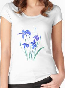 blue day lily Women's Fitted Scoop T-Shirt