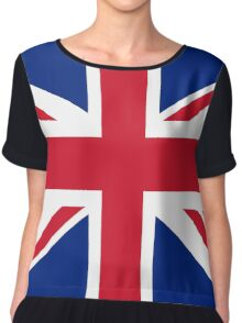 UK Union Jack ensign flag - Authentic version (Duvet, Print on Red background)  Chiffon Top