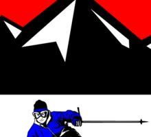 WINTER PARK COLORADO Ski Skiing Mountain Mountains Skiing Skis Silhouette Snowboard Snowboarding Sticker