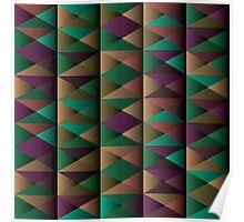 Triangle Shade Pattern Var. 5 Poster