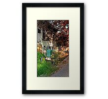 Abandoned agricultural vehicle | conceptual photography Framed Print