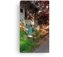 Abandoned agricultural vehicle | conceptual photography Canvas Print