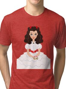 White Scarlett Princess Tri-blend T-Shirt