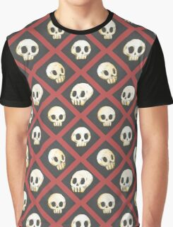 Tiling Skulls 2/4 - Red Graphic T-Shirt