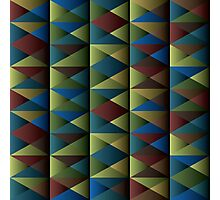 Triangle Shade Pattern Var. 6 Photographic Print