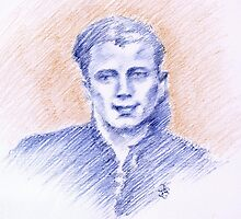 Cesare Palmieri portrait by Francesca Romana Brogani