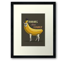 Bananas About Llamas! Framed Print