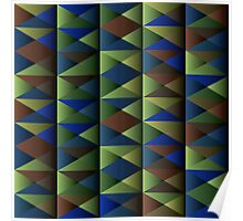 Triangle Shade Pattern Var. 7 Poster