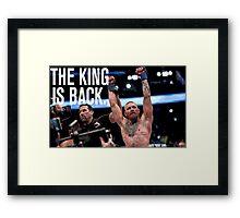 Conor McGregor - 'THE KING IS BACK' Framed Print