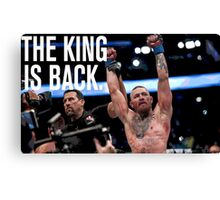 Conor McGregor - 'THE KING IS BACK' Canvas Print