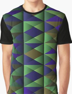 Triangle Shade Pattern Var. 8 Graphic T-Shirt