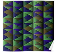 Triangle Shade Pattern Var. 8 Poster