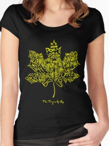 THE TRAGICALLY HIP SUMMER TOUR 2016 edition typography Yellow Women's Fitted Scoop T-Shirt