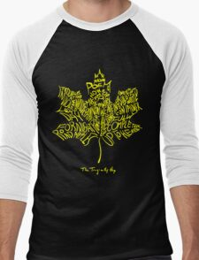 THE TRAGICALLY HIP SUMMER TOUR 2016 edition typography Yellow Men's Baseball ¾ T-Shirt