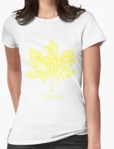 THE TRAGICALLY HIP SUMMER TOUR 2016 edition typography Yellow Womens Fitted T-Shirt