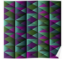 Triangle Shade Pattern Var. 9 Poster