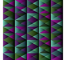 Triangle Shade Pattern Var. 9 Photographic Print