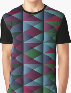 Triangle Shade Pattern Var. 10 Graphic T-Shirt