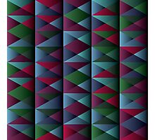 Triangle Shade Pattern Var. 10 Photographic Print