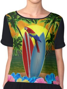 Tropical Sunset Chiffon Top