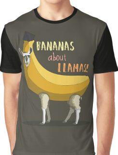 Bananas About Llamas! Graphic T-Shirt