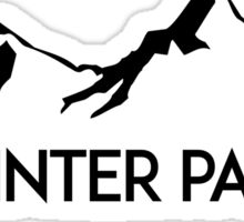WINTER PARK COLORADO Ski Skiing Mountain Mountains Skiing Skis Silhouette Snowboard Snowboarding Sticker