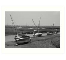 Low tide Norfolk coast Art Print