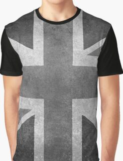 Union Jack Vintage 3:5 Version in grayscale Graphic T-Shirt