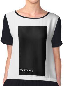 Black Frame City: Sydney AUSTRALIA Chiffon Top
