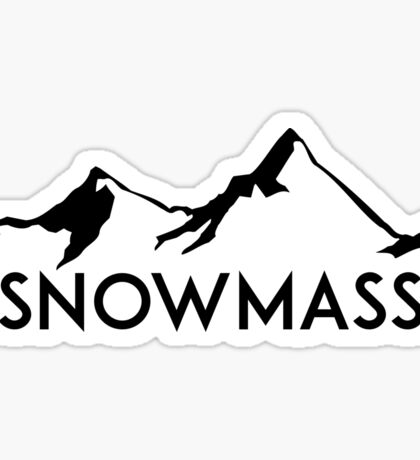 SNOWMASS COLORADO Ski Skiing Mountain Mountains Skiing Skis Silhouette Snowboard Snowboarding Sticker