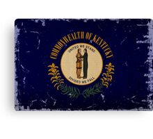 Kentucky State Flage VINTAGE Canvas Print