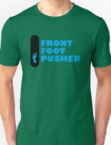 Skateboard Mongo Front Foot Pusher (goofy - left footprint) Unisex T-Shirt