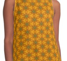 yellow flower pattern Contrast Tank