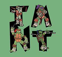 Teenage Mutant Ninja Turtles TMNT Letterforms by Simon04