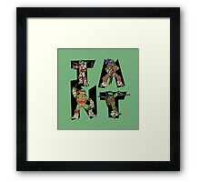 Teenage Mutant Ninja Turtles TMNT Letterforms Framed Print