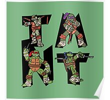 Teenage Mutant Ninja Turtles TMNT Letterforms Poster